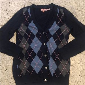 Juicy couture argyle cardigan